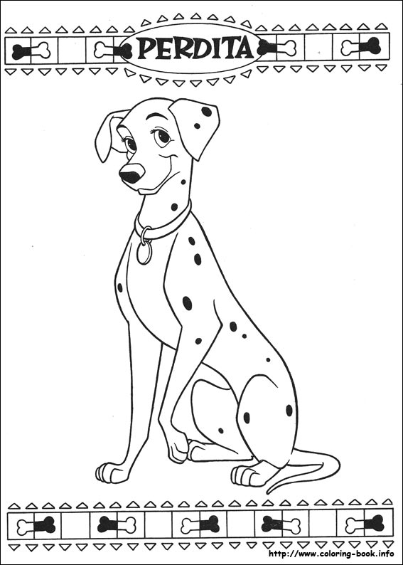 101 Dalmatians coloring pages on ColoringBookinfo