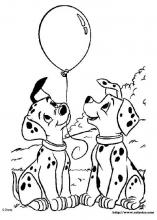 101 Dalmatians Coloring Pages 2 in 2020 | Dalmation puppy, Puppy ... | 220x157