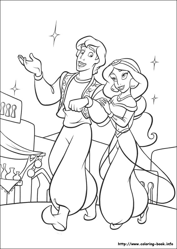 aladdin coloring pages on coloring bookinfo