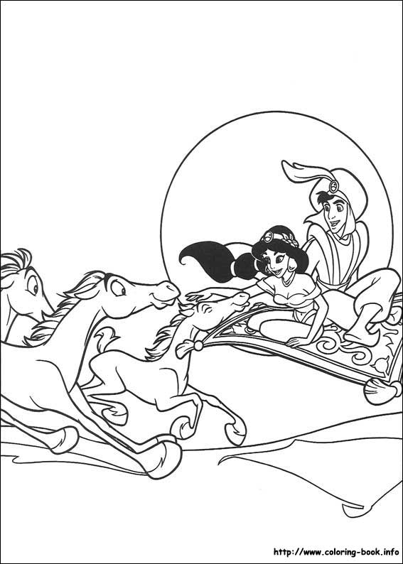 Aladdin coloring pages on Coloring-Book.info