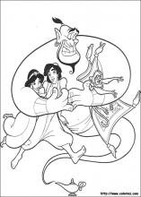 Aladdin Coloring Pages On Coloring Book Info