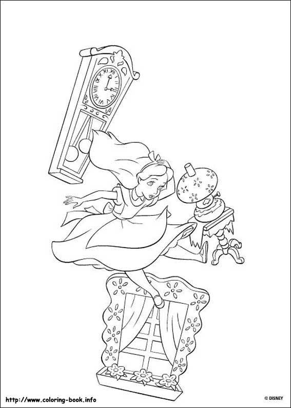 ディズニーキャラクターのぬりえ(塗り絵) 画像素材 無料テンプレート
