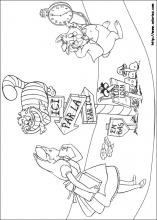 alice in wonderland coloring pages on coloring-book.info - Alice Wonderland Coloring Pages