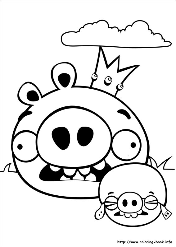 angry birds coloring pages on coloringbook, coloring pages