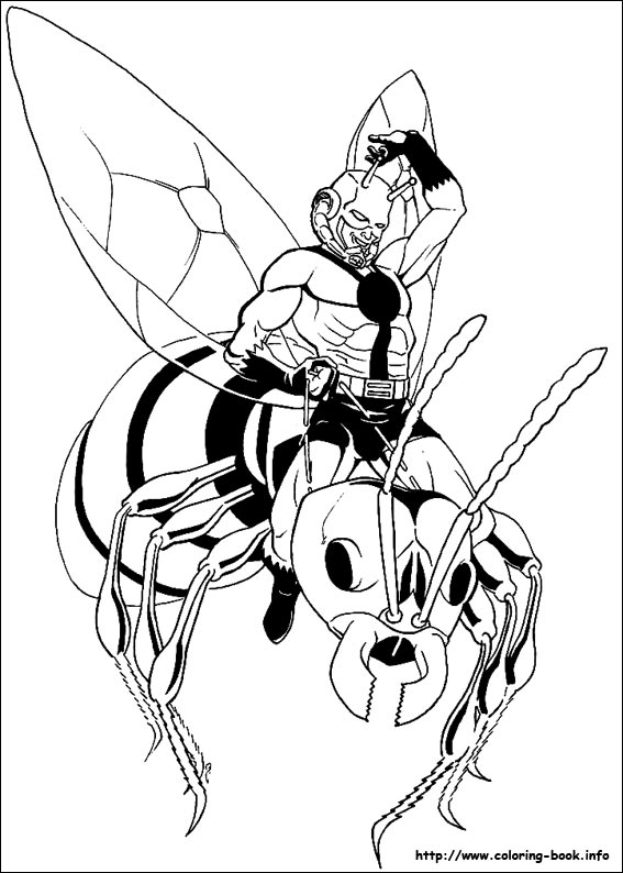 Ant Man Coloring Picture
