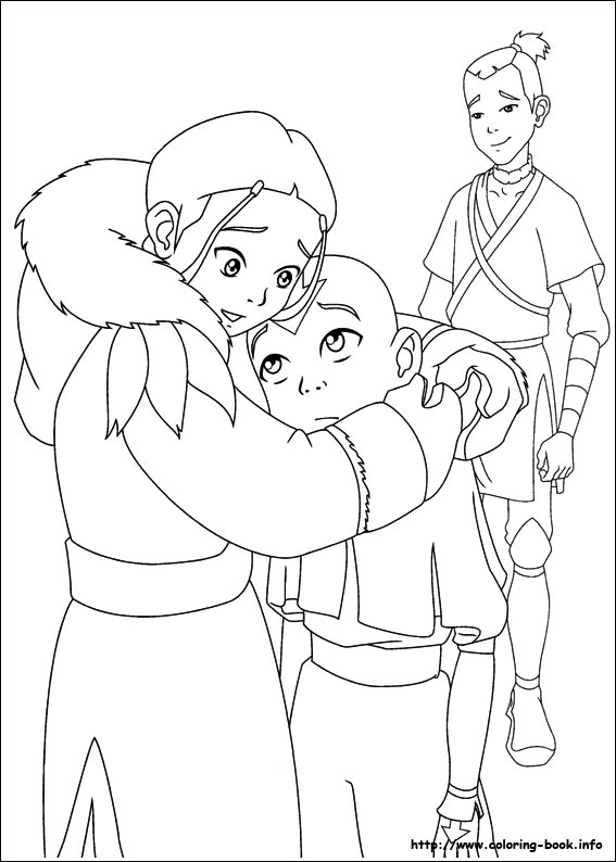 Avatar, the last airbender coloring picture