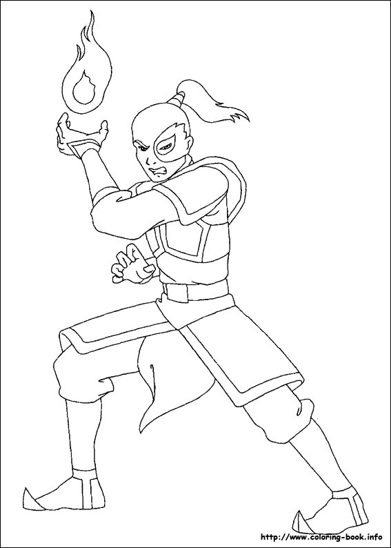 the last airbender coloring picture