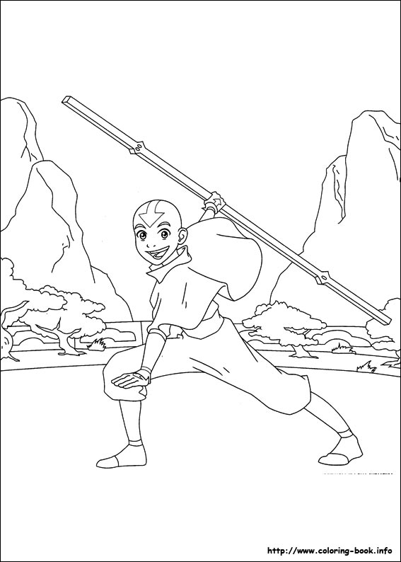 Avatar the last airbender coloring pages on ColoringBookinfo