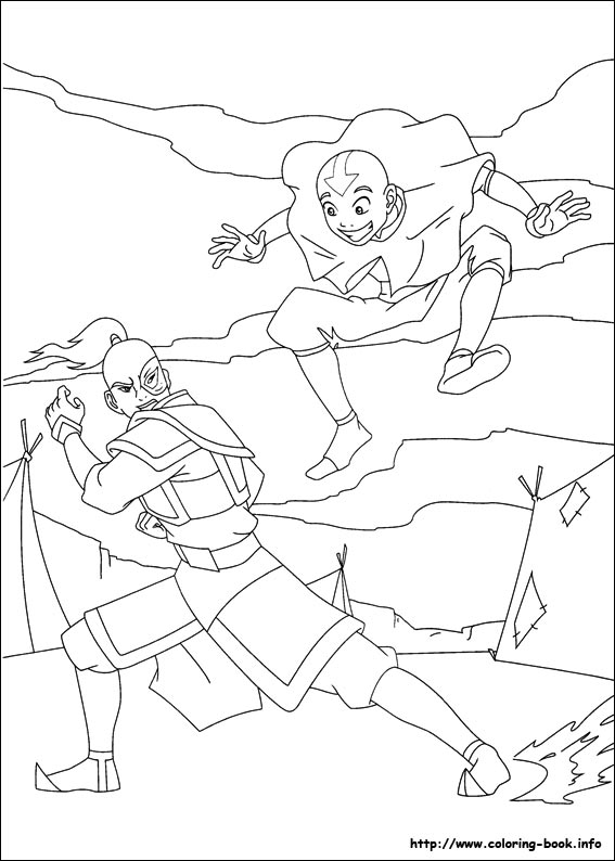 Avatar: The Last Airbender coloring pages for kids