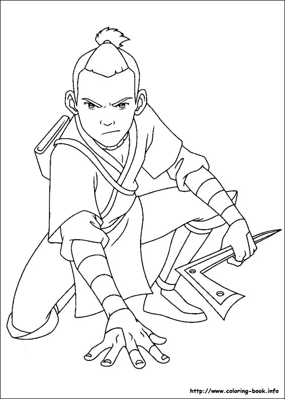 avatar the last airbender coloring picture