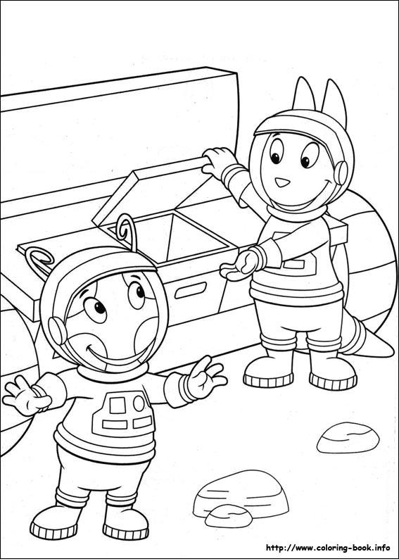 backyardigans coloring pages austin - photo#19