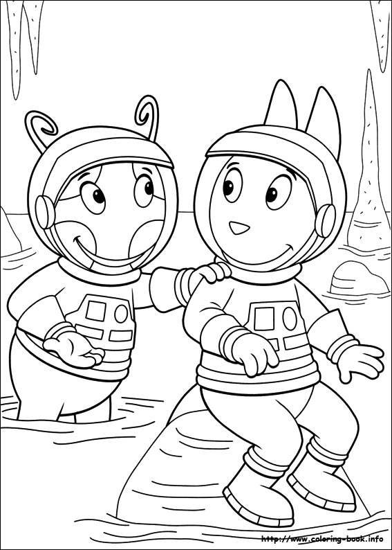 backyardigans coloring picture