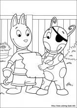 backyardigans coloring pages on coloring book info