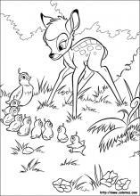 Bambi and Thumper, bambi color page, disney coloring pages, color ... | 220x157