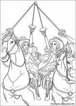 Barbie and the three Musketeers coloring pages on ColoringBookinfo