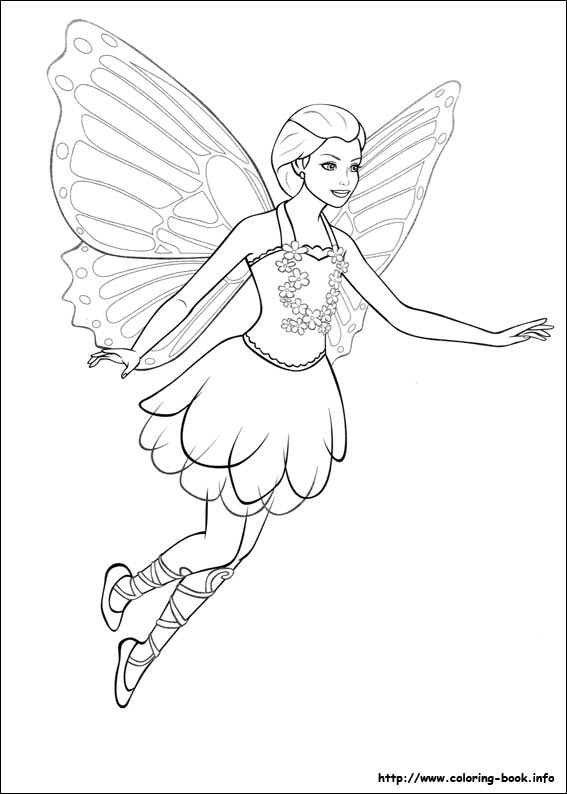 barbie mariposa coloring pages on coloring bookinfo