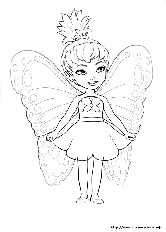 Barbie Mariposa Coloring Pages On Coloring Book