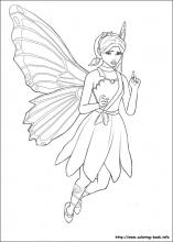 Barbie Mariposa coloring pages on ColoringBookinfo
