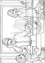 Barbie Thumbelina Coloring Pages On Book