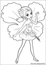 Barbie Thumbelina Coloring Pages On Coloring Book Info