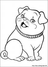 Barbie Thumbelina coloring pages on ColoringBookinfo