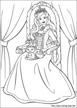 Barbie as the Princess and the Pauper coloring pages on Coloring