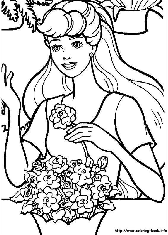 芭比公主儿童画画图