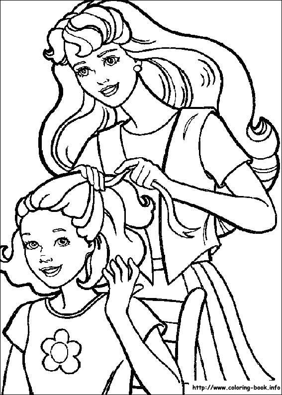 coloring pages for girls barbie_11. Answer: Barbie Coloring