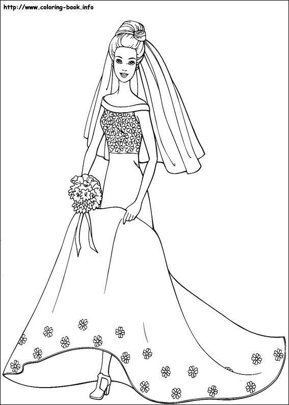 Barbie coloring pages on ColoringBookinfo