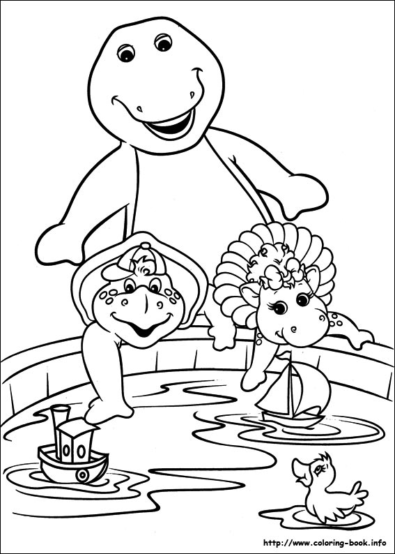 last updated may 4th - Barney Dinosaur Coloring Pages