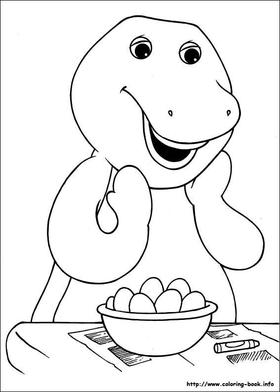 last updated november 19th - Barney Coloring Book