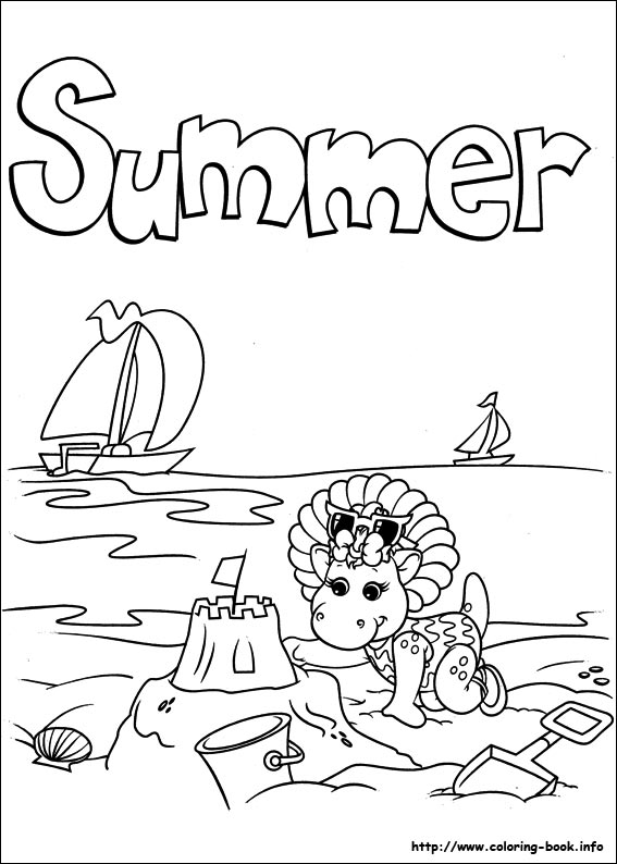 barney and friends coloring picture - Barney Friends Coloring Pages