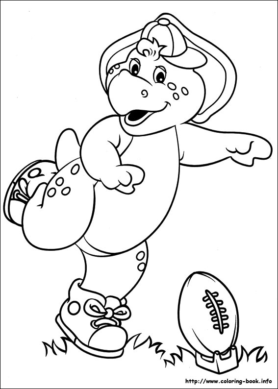 barney and friends coloring picture - Barney Coloring Book