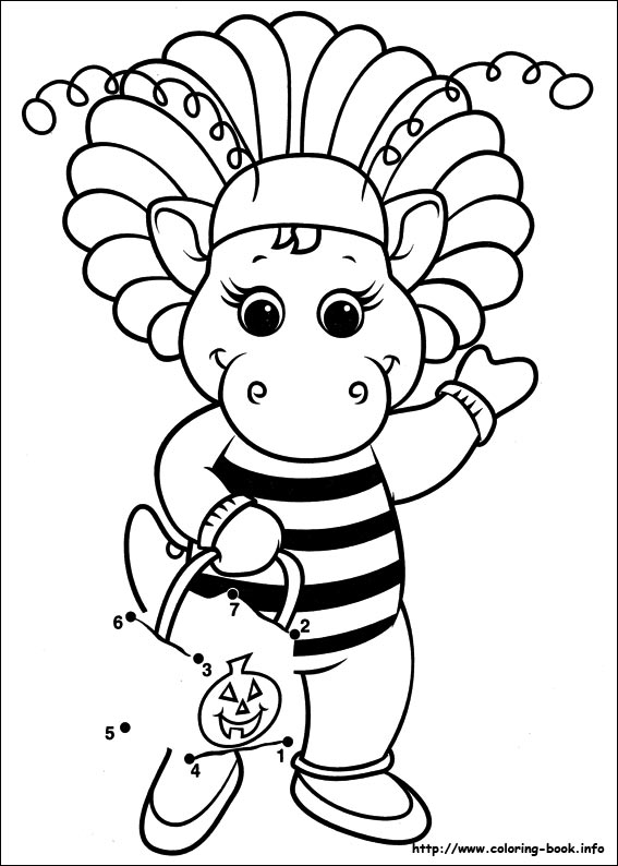index coloring pages - Barney Dinosaur Coloring Pages