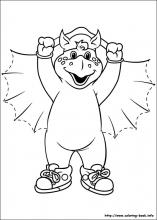 Barney and Friends coloring pages on ColoringBookinfo