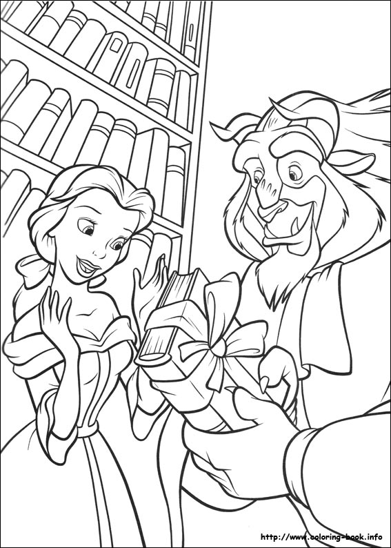 beauty and the beast printable coloring pages Beauty and the Beast coloring pages on Coloring Book.info beauty and the beast printable coloring pages
