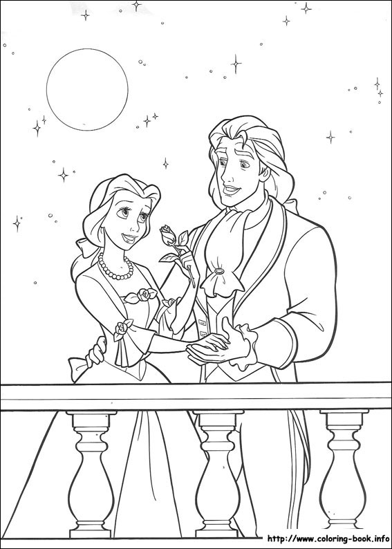 index coloring pages - Belle Princess Coloring Pages