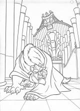 Beauty and the Beast coloring pages on ColoringBookinfo