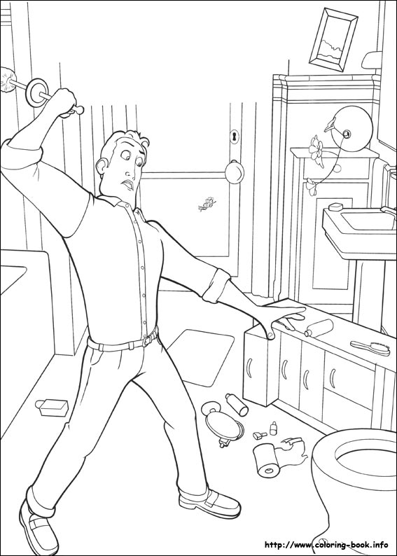 Bee Movie Coloring Picture