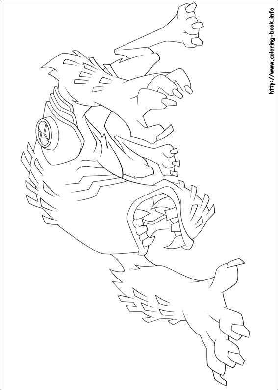 Free Ben Ten Omniverse Coloring Pages