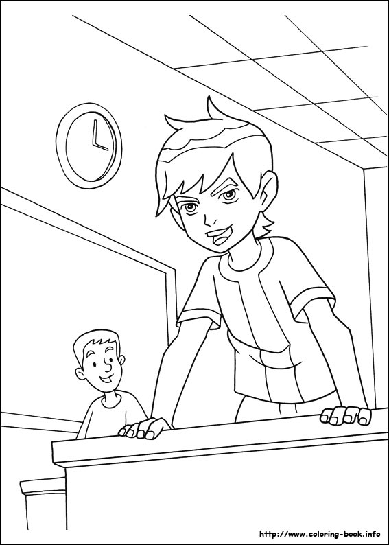 Ben 10 Coloring Picture