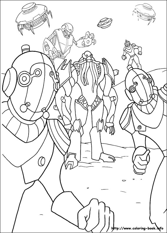 Upgrade Ben 10 Coloring Pages