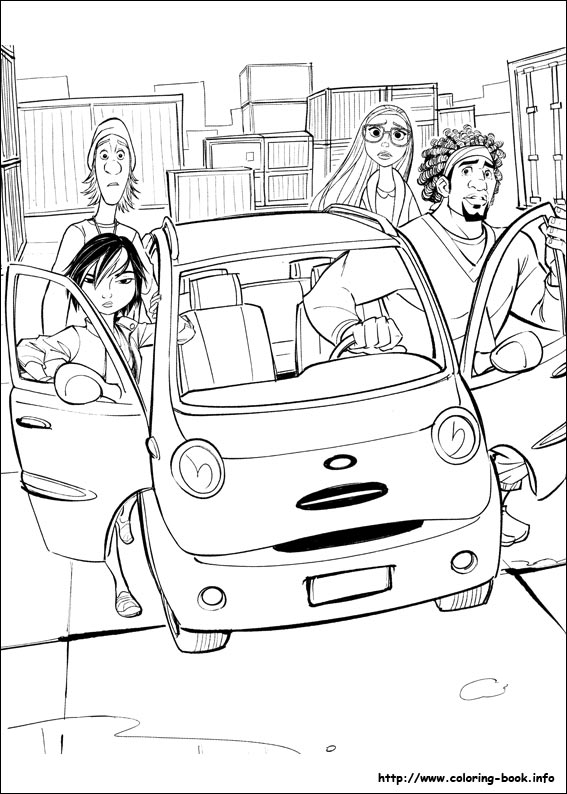 Big Hero 6 Coloring Picture