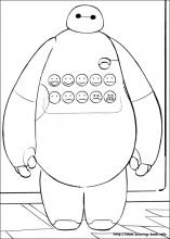 Big Hero 6 Coloring Pages On Book