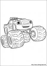Blaze And The Monster Machines Coloring Pages On Coloring Book Info