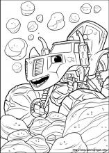 Coloriage Blaze Pdf.Blaze And The Monster Machines Coloring Pages On Coloring Book Info
