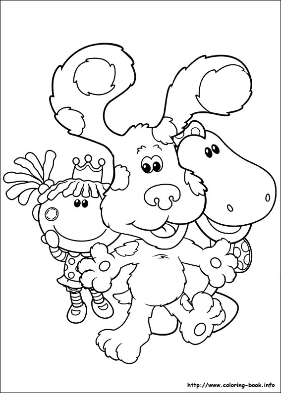 blues clue and coloring pages - photo#32
