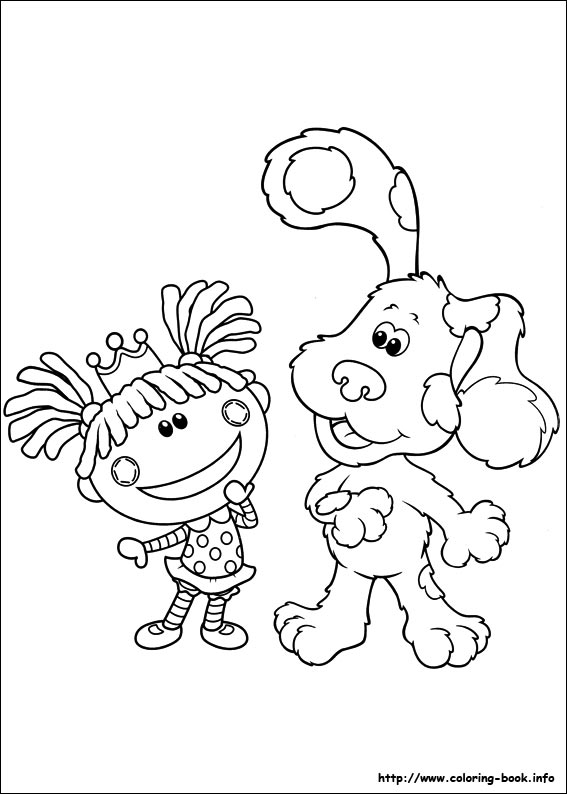 Blues Clues Coloring Book. blues clues birthday coloring pages x a a ...