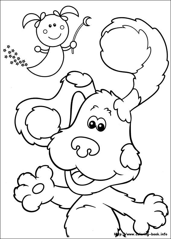blues clues coloring picture