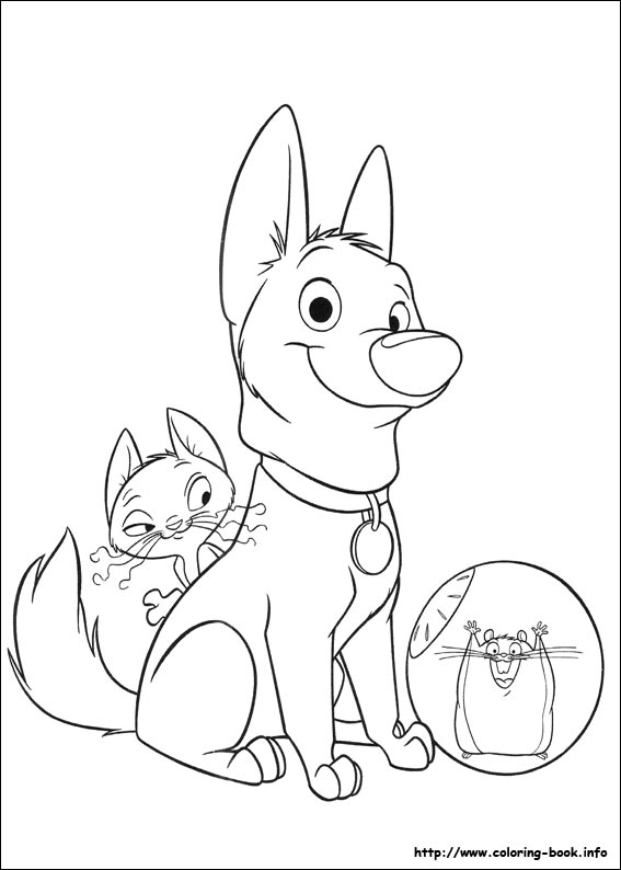 Bolt coloring pages on Coloring-Book.info